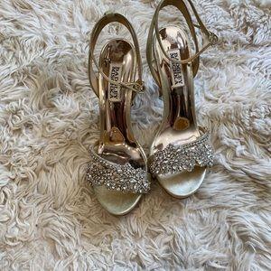Badgely Mischkaa bridal heels